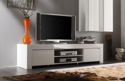 TV STAND Amalfi - meuble tv blanc laqué