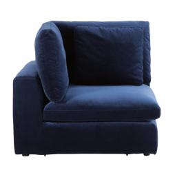 Angle de canapé modulable en velours bleu nuit Midnight