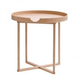 Table d'appoint Damien I - Chêne massif - Chêne, Wireworks