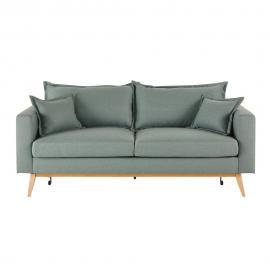 Canapé-lit vintage 3 places vert d'eau Duke