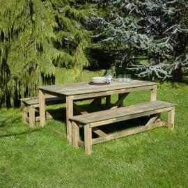 Salon de jardin en bois Normand