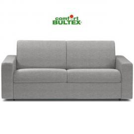 Inside 75 Canapé convertible rapido CrÉPUSCULE matelas 140cm comfort Bultex® tissu tweed fashion gris silver