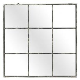 Miroir fenêtre carré en métal 118x118cm FACTORY Métal