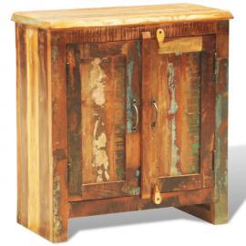 Vidaxl Commode Cabinet de Rangement Vintage 16 Tiroirs Face en Blanc