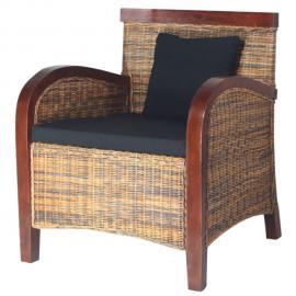 Vidaxl Set table et 4 chaises de bar en bois coloris marron