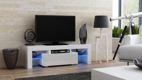 Milano 130 - blanc meuble de télévision