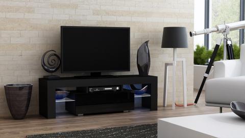 Milano 130 - noir meuble tv led