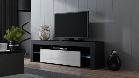 Milano 160 - noir ensemble meuble tv