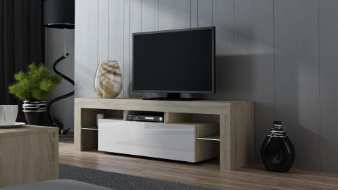 Milano 160 - sonoma de chêne meuble tv led