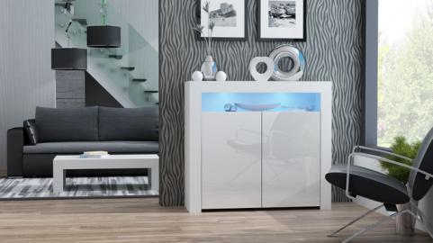 Milano Sideboard 2D - blanc design commode