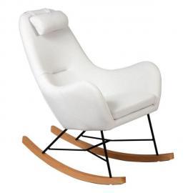 Tousmesmeubles Rocking Chair Beige - Means - L 70 x l 83 x H 102