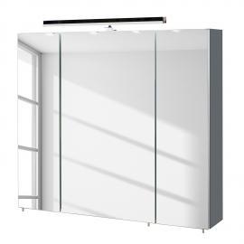 EEK A+, Armoire à miroir Alba (avec éclairage) - Basalte - 80 cm, Schildmeyer
