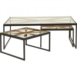 Karedesign Tables basses Beam set de 3 Kare Design