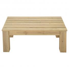 Table basse de jardin en bois L 100 cm Brehat