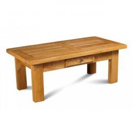HELLIN Table basse rectangle LA BRESSE - bois chêne massif