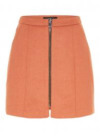 VERO MODA High Waist Woll Rock Damen Braun