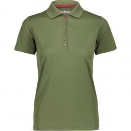 CMP Damen Polo T-Shirt (Größe 3XL, Oliv) | T-Shirts Funktion > Damen