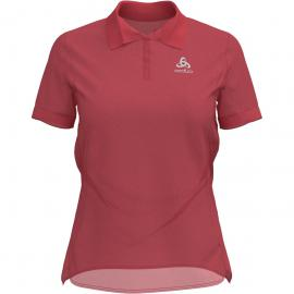 Odlo Damen New Trim Polo T-Shirt Rot XL