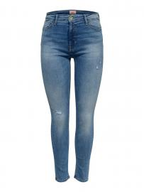 ONLY Onlpaola Highwaist Skinny Fit Jeans Damen Blau
