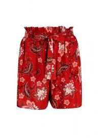 **Tall Rust Floral Shorts - Dorothy Perkins