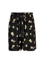 **Tall Black Floral Print Shorts - Dorothy Perkins