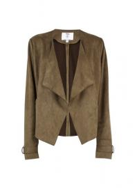 **Tall Khaki Suedette Waterfall Jacket - Dorothy Perkins