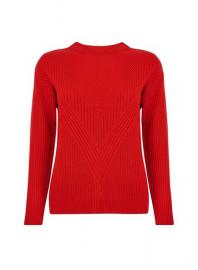 Roter, Gerippter Pullover - Dorothy Perkins
