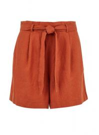 Rust Paperbag Shorts - Dorothy Perkins