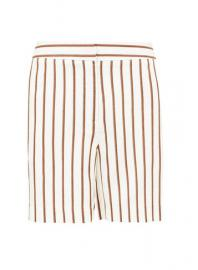 Petite White Stripe Print Knee Shorts - Dorothy Perkins