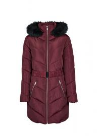Burgundy Long Sleeve Padded Jacket - Dorothy Perkins
