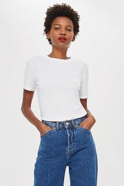 Schlichtes Premium T-Shirt - Weiß - Topshop
