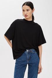Hochgeschlossenes T-Shirt - Schwarz - Topshop