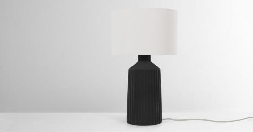 Kae, grande lampe de table, noir