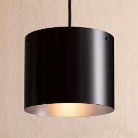 Suspension LED de designer Afra, noire-argentée