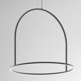 Suspension LED originale U-Light grise