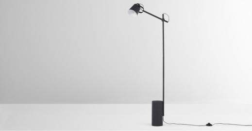Seppo, lampadaire, noir