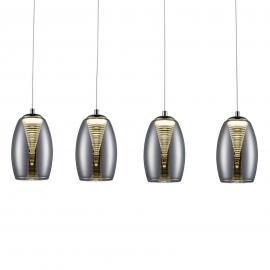 Suspension LED Metropolis à 4 lampes