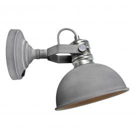 Applique gris béton Frieda, design industriel
