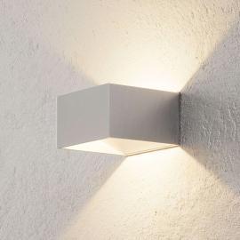 Applique LED Cube chromée