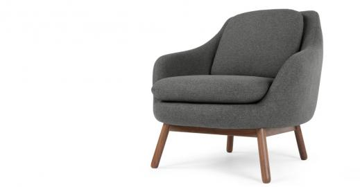 Oslo, fauteuil d'appoint, gris marne