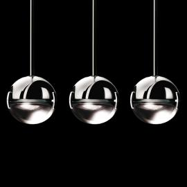 Suspension LED design Convivio, transparente