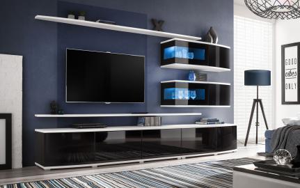 Spokane - noir ensemble meuble tv