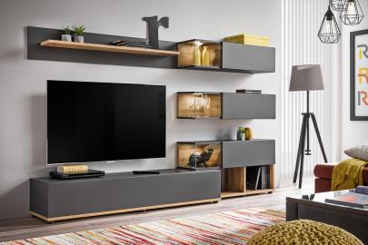 Simi- anthracite meuble tv led