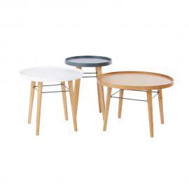 3 tables basses Pilea