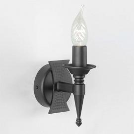 Applique médiévale à 1 lampe SAXON noire