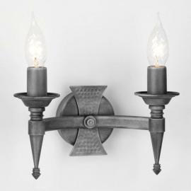 Applique à 2 lampes SAXON noir argenté