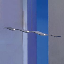 Suspension LED Fluid intensité variable aluminium