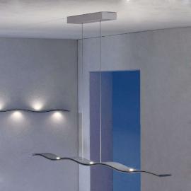 Suspension LED Fluid, vague, aluminium, 100cm