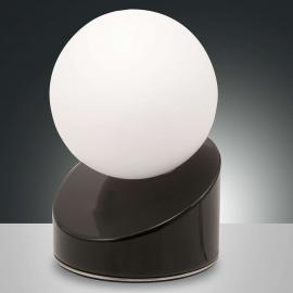 Lampe à poser LED sphérique Gravity, noire