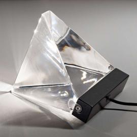 Petite lampe à poser LED cristal Tripla anthracite